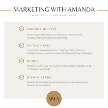 Marketing with Amanda Promo