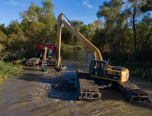 2018-11-02 weir creek dredging - drone-0