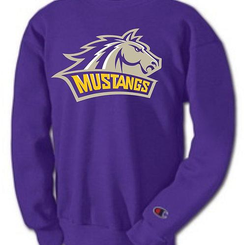 Champion Crew Neck Mustang Logo