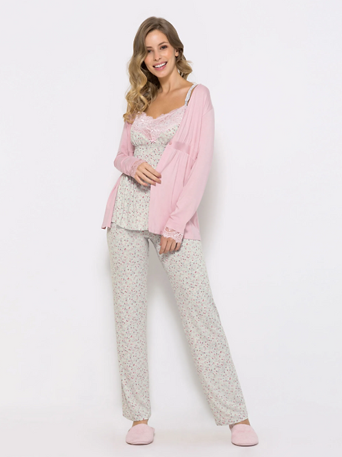 Pijama Trio Feminino Camilla