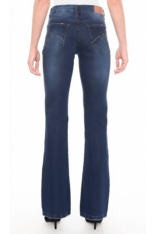 Calça Jeans Boot Cut C3 Blue Wash