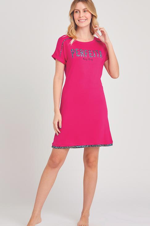 Camisola Curta Manga Curta Onça Pink