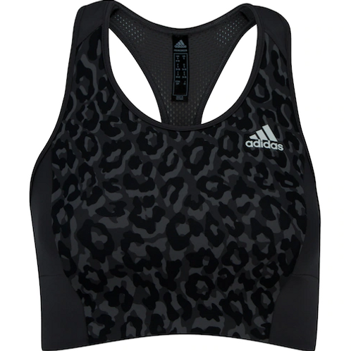 Top Fitness Adidas Leopard Suporte Leve Adulto