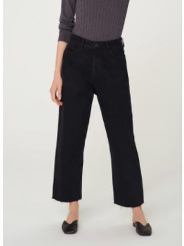Calça Jeans Feminina Reta Preto
