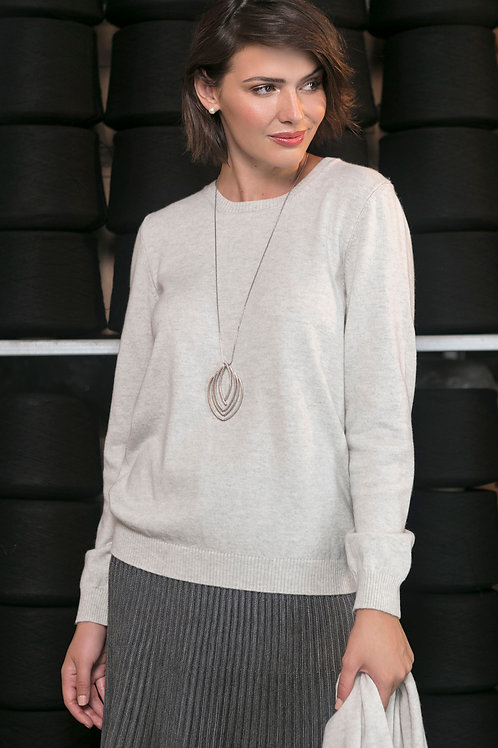 Blusa Gola Redonda Cashmere e Lã