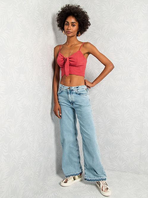 Calça Feminina Jeans Wide Leg