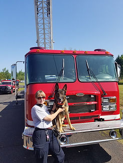 K-9 Synder and handler Marcia.