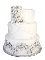 Charcoal shading flowers wedding cake.png