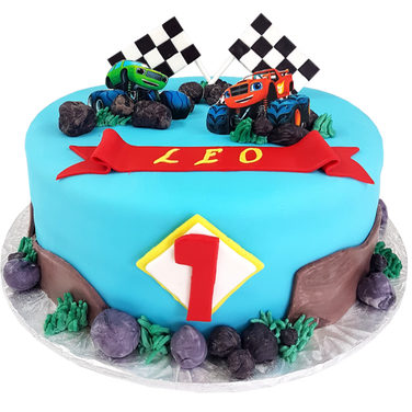 Blaze truck cake.png