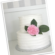 pink peonies white buttercream wedding c