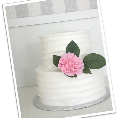 pink peonies white buttercream wedding c