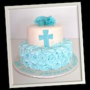 blue rossette communion cake.png