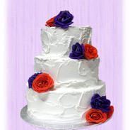 orange and purple flowers ructic wedding