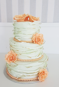 mint green peach roses wedding cake.png