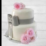 grey bow pink roses wedding cake 2.png