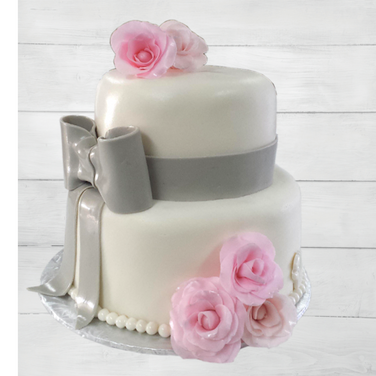 grey bow pink roses wedding cake 2.png