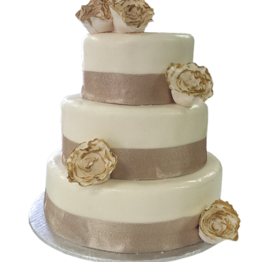 gold rim peonies wedding cake .png