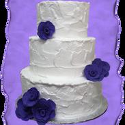 rustic wedding cake purple roses 2.png