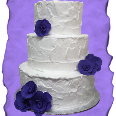 rustic wedding cake purple roses 2.png
