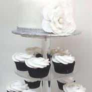 cupcake tower big white flower cake.png