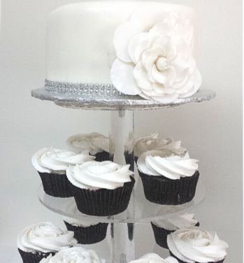 cupcake tower big white flower cake.png