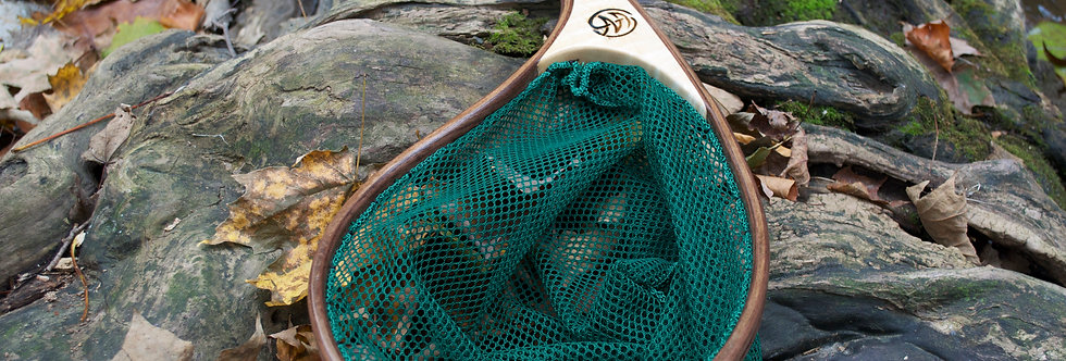 brookie net, backpack net, flyfishing net, bluelining net, trout net, custom handmade landing net, landing net, exotic wood
