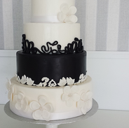 squigly design black and white weddign c