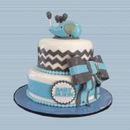 grey blue elephant chevron cake 2.png