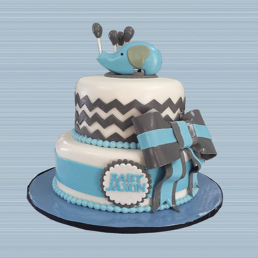 grey blue elephant chevron cake 2.png