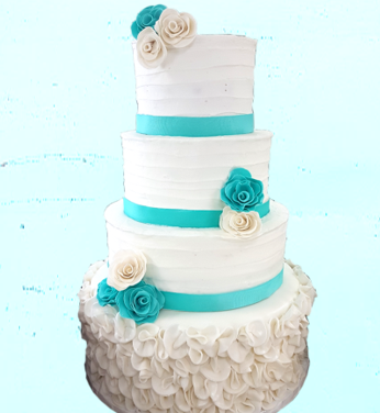 teal rose rustic wedding cake 2.png
