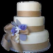 rustic wedding cake bulap bow.png