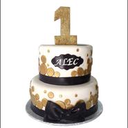 black bow gold polka 1st birthday 2.png