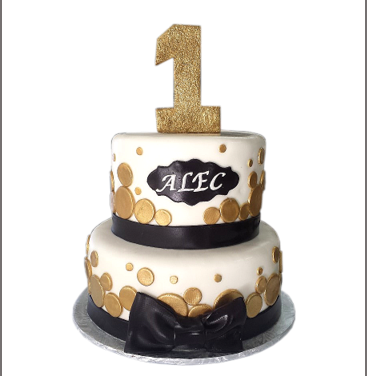 black bow gold polka 1st birthday 2.png
