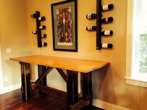 Doug fir & ebonized oak table - sold