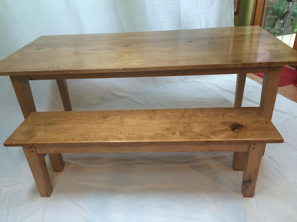 Shaker table & bench - sold
