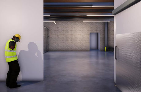 3D walkthrough of industrial racking in a warehouse