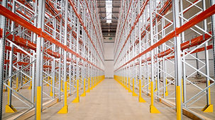 Industrial Storage racking in a distribution warehouse