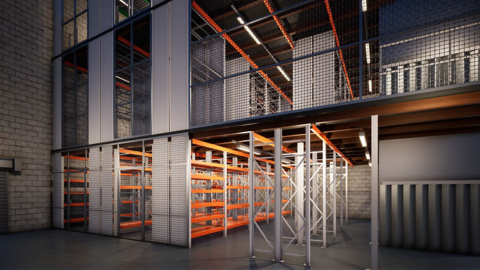 3d Visualisation of Industrail Racking