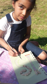 An Eco Birthday Banner Activity at Saani's 9th!