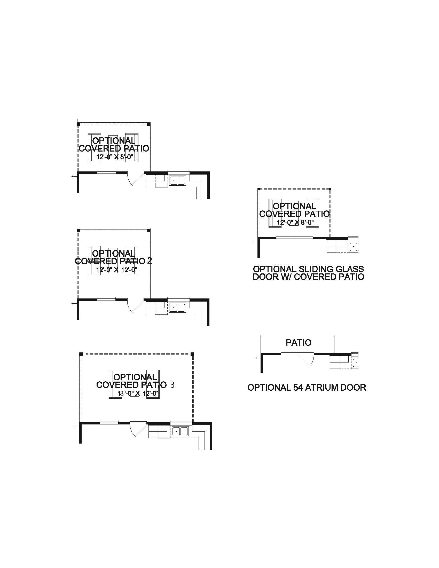 The Siena - 1st Floor Patio Options