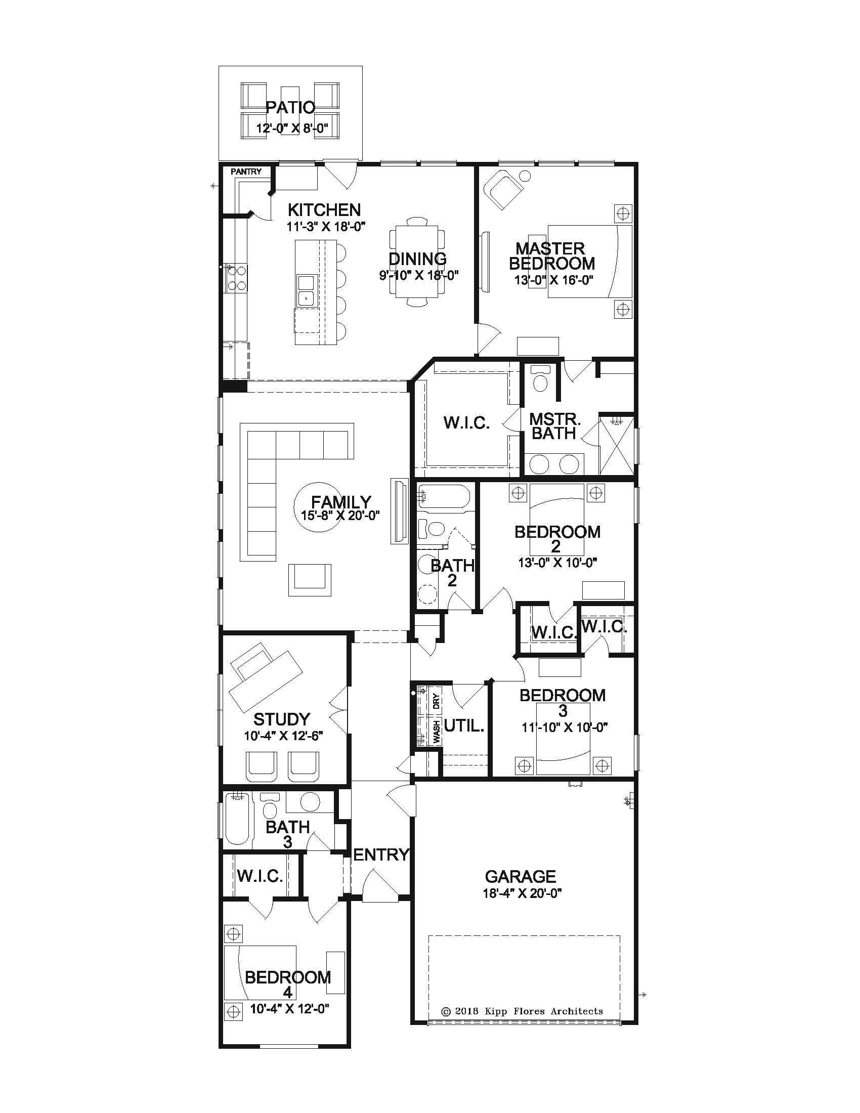 The Messina - Floor Plan