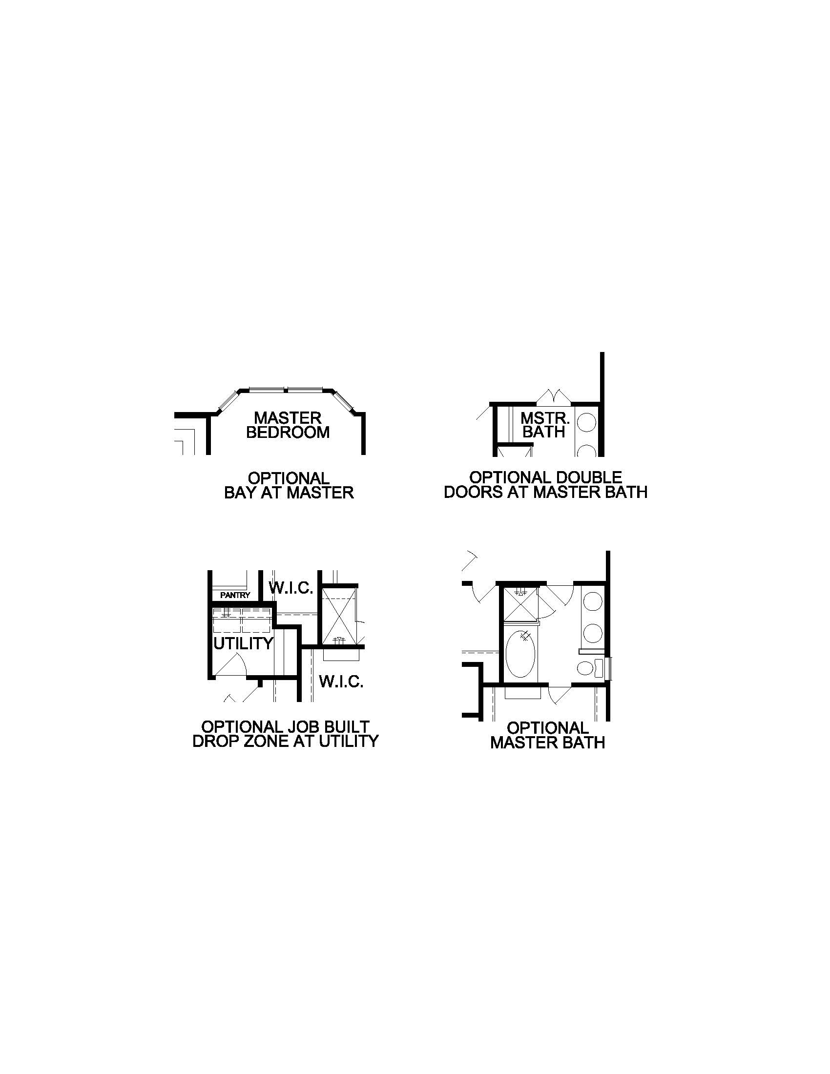 The Siena - 1st Floor Options Continued.