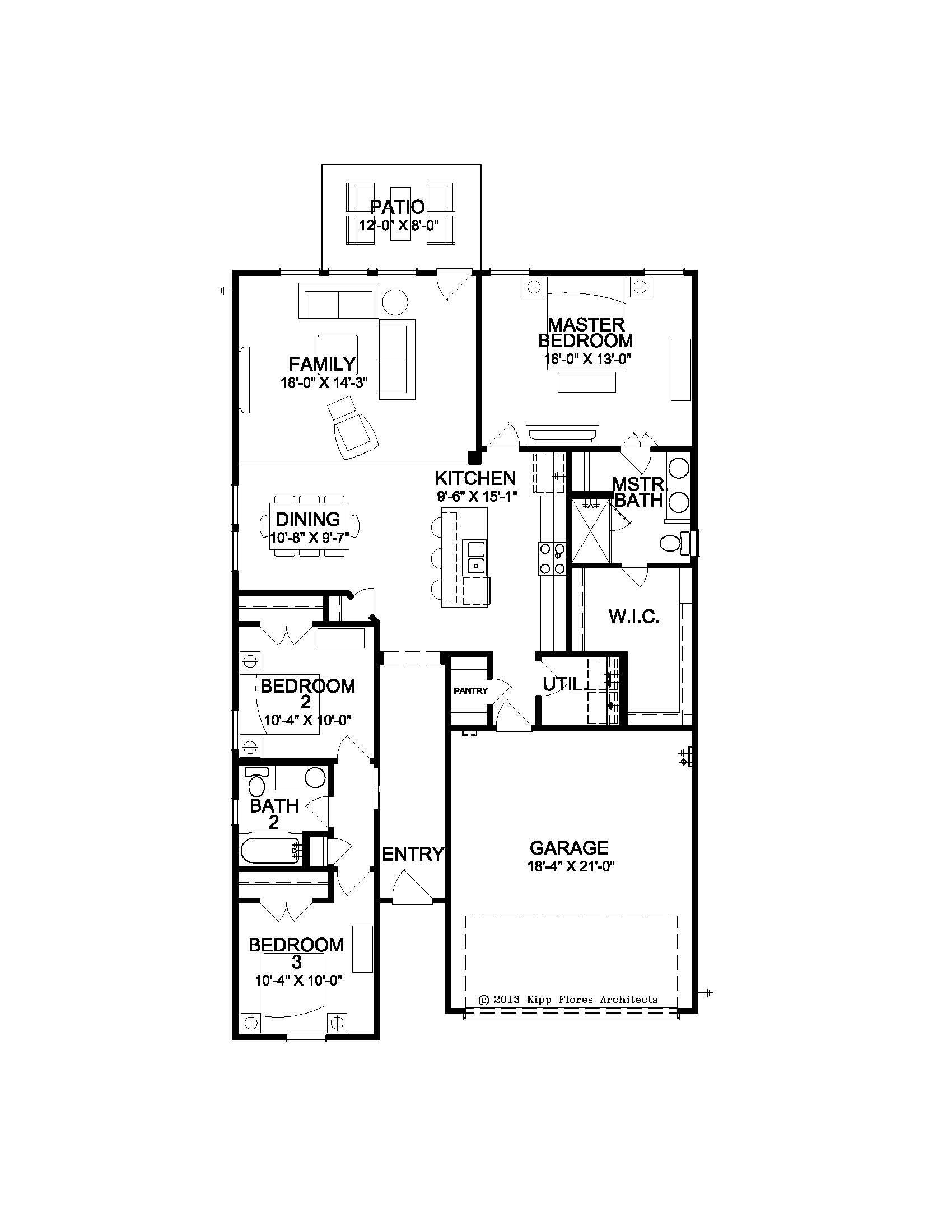The Bergamo - Floor Plan
