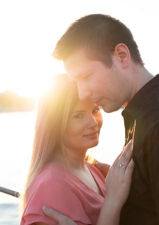 Engagement photo Lake Zurich