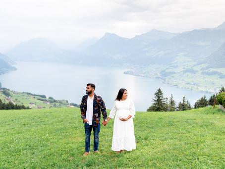 Maternity photoshoot in Luzern, Switzerland