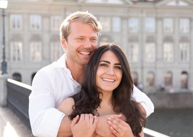 Zurich engagement photo