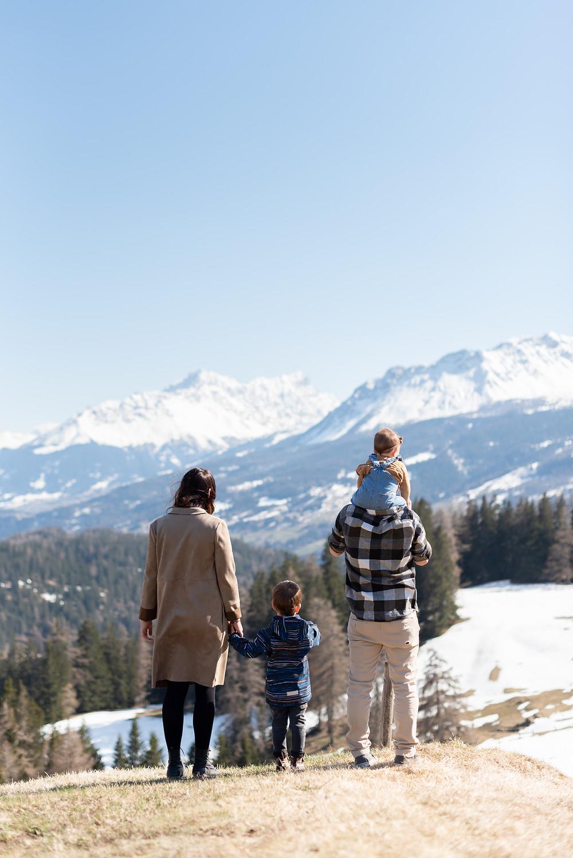 Family photoshoot in Lenzerheide, Switzerland