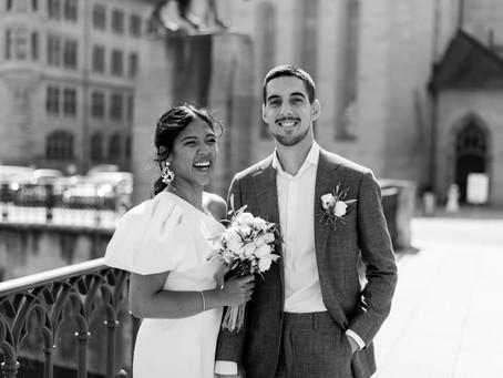Beautiful civil wedding in Zurich, Switzerland