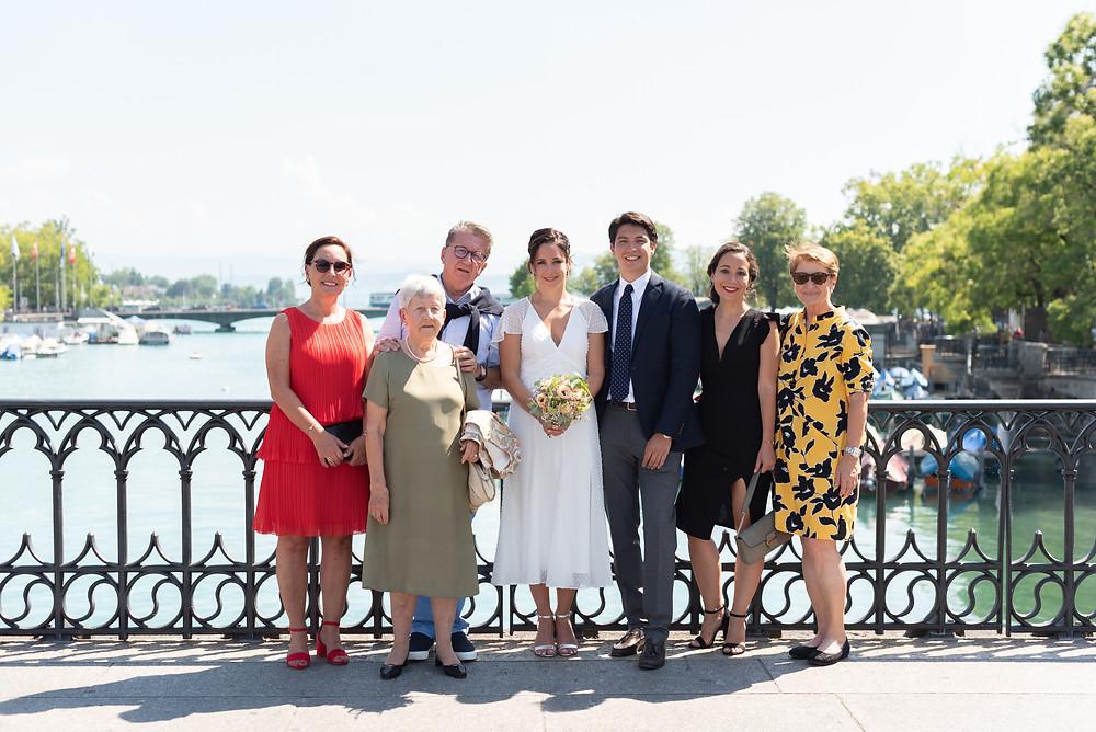 Family Wedding Photos in Zurich, Switzerland