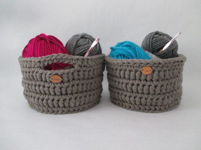 Alternate Bolster Basket with and without handles